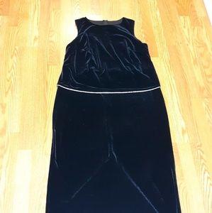 Vintage Onyx Nite By Wendye Chaitin Evening Gown